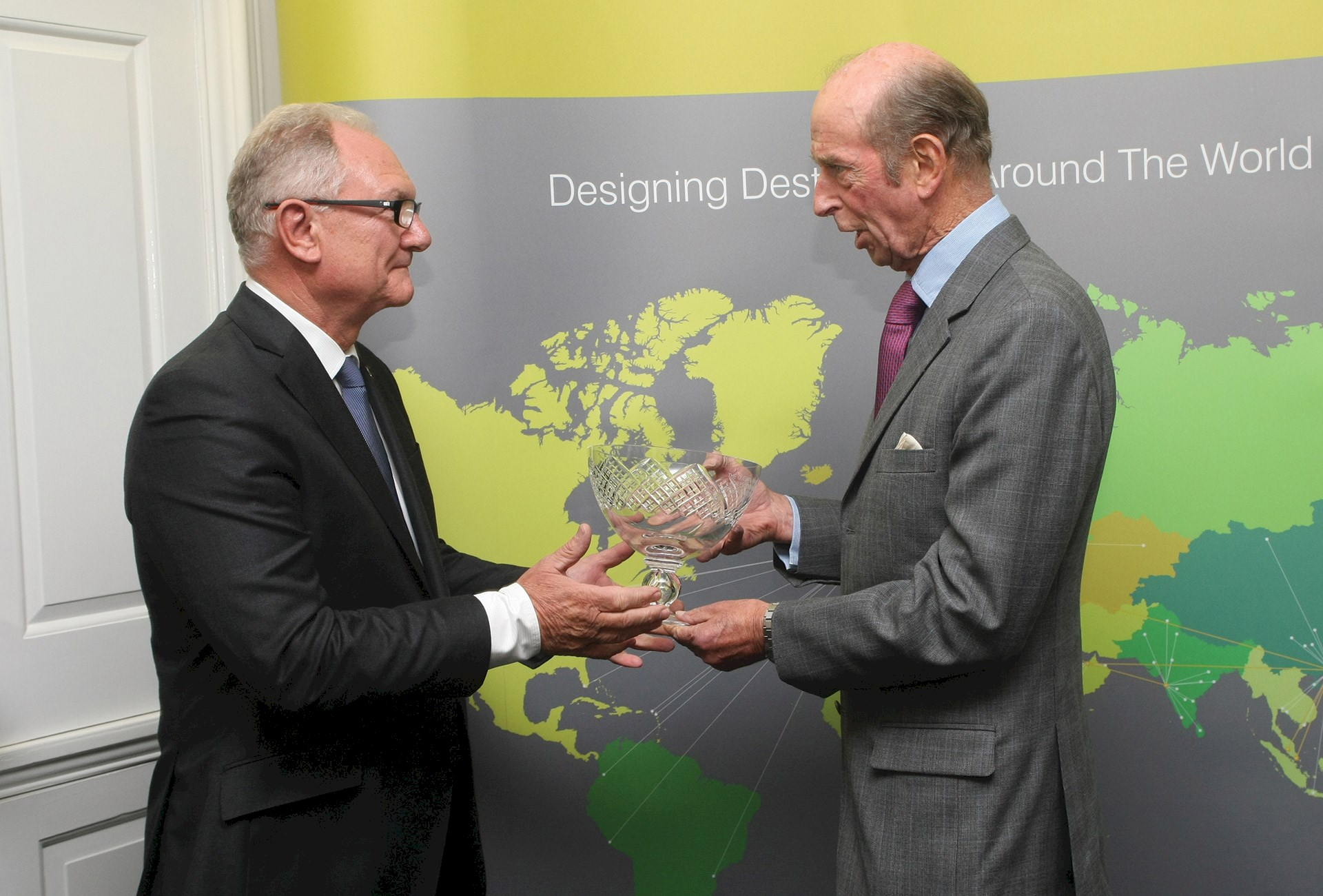 Benoy Welcomes His Royal Highness the Duke of Kent to Handley House