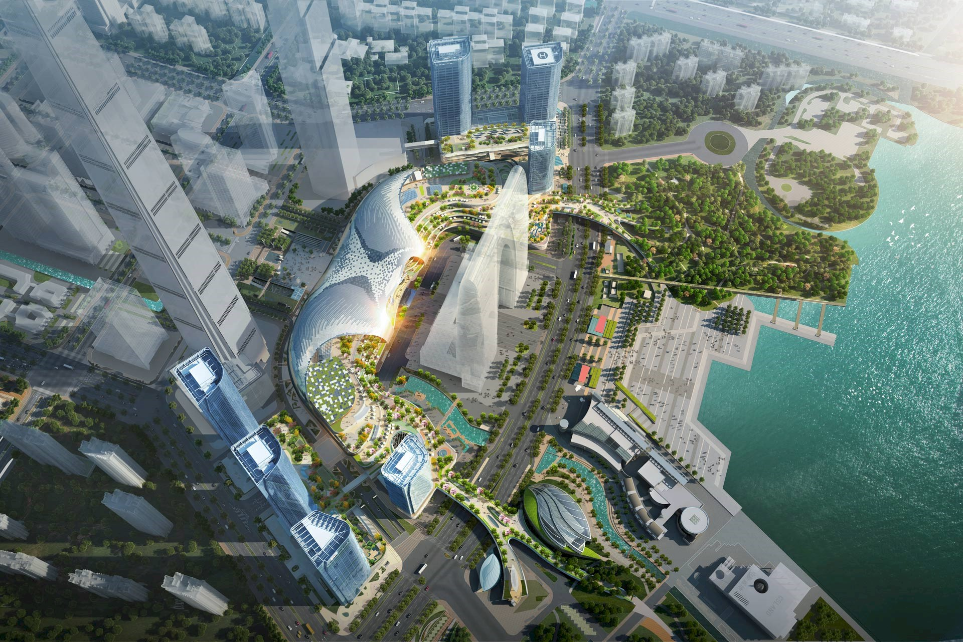 Suzhou Center Unveiled with World's Largest Monocoque Roof