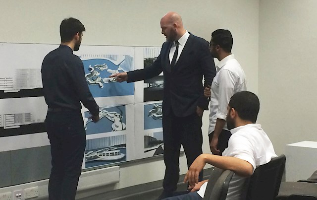 Benoy MENA Director Spends Day as Guest Critic for Local UAE University