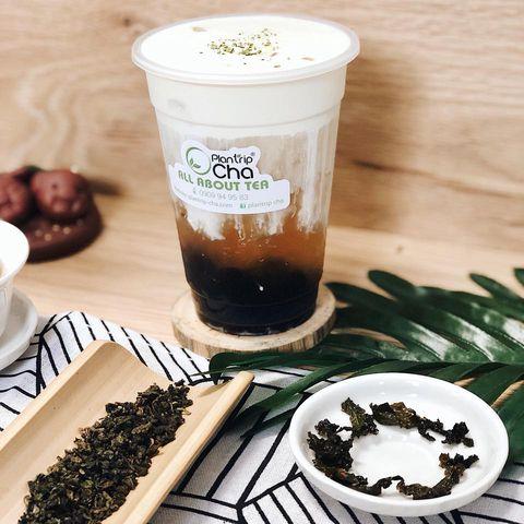 Một thức uống pha từ cốt trà Oolong Rang