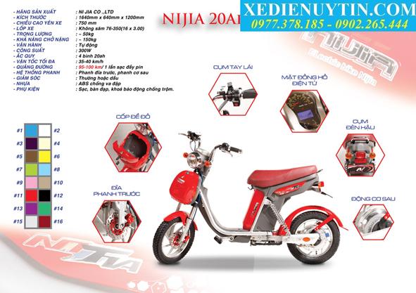 Xe đạp điện Nijia 20a chính hãng