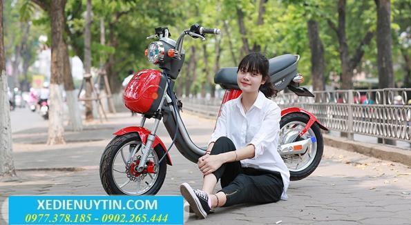 Xe đạp điện Nijia S 2017 mầu đỏ