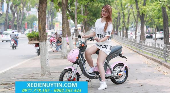 Xe đạp điện Nijia S 2017 mầu hồng