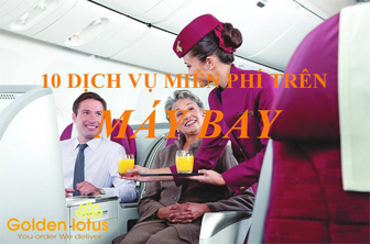 10 Dịch vụ miễn phí trên máy bay