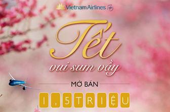 Vietnam Airlines đã mở bán vé máy bay tết 2017 giá hấp dẫn nhất cho tất cả các chặng