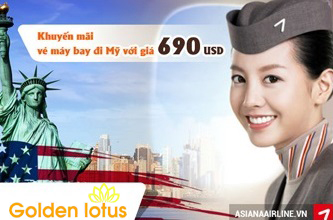 Khuyến mãi đi Mỹ giai đoạn Tết 2017 của Asiana Airlines