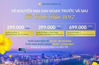 Vietnam Airlines triển khai vé khuyến mại giai đoạn trước và sau tết chỉ từ 299.000 VND