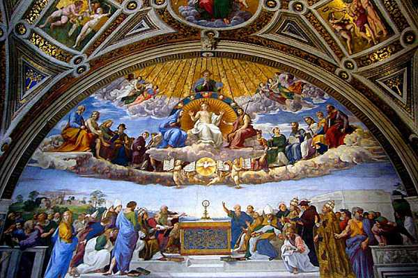 Vatican - buc tranh tren tran nha
