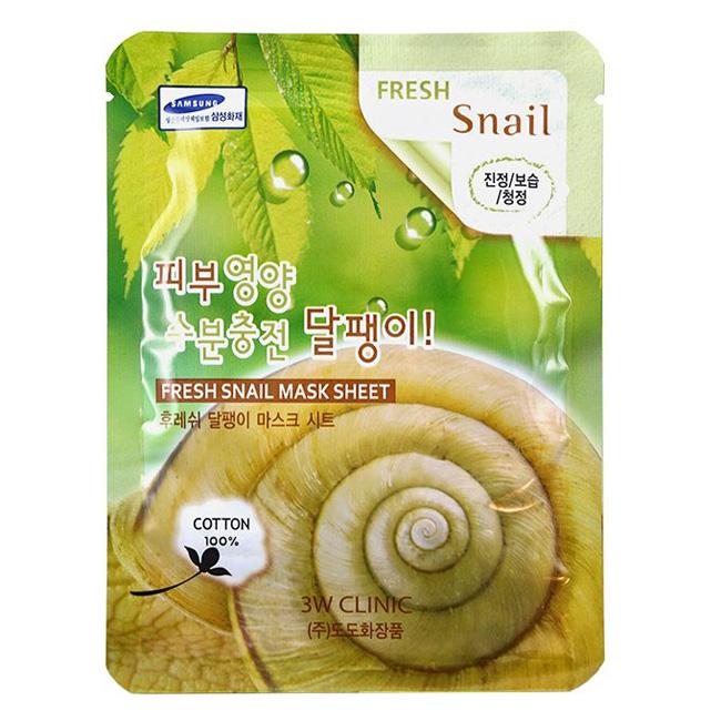 Mặt nạ ốc sên Hàn quốc 3W Clinic Fresh Snail Mask Sheet Kangnam Mart