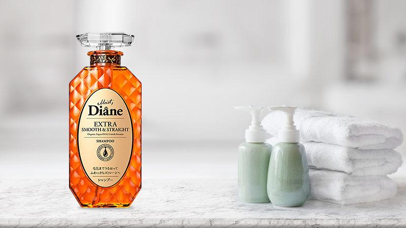 Dầu Gội Nhật Vào Nếp Thẳng Mượt Moist Diane Extra Smooth & Straight 450ml  Kangnam Mart