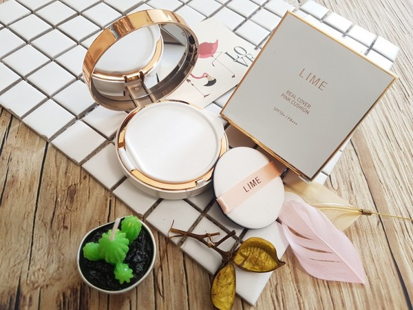 Phấn Nước Kiềm Dầu Lime Real Cover Pink Cushion SPF50+ PA+++ Kangnam Mart