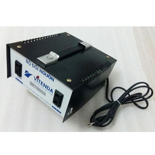 Bộ đổi nguồn 1500VA Vitenda từ 220V sang 110V(100V) quai xách