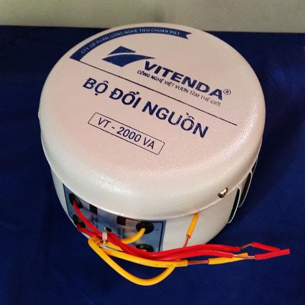Bộ đổi nguồn 2000VA sắt tròn Vitenda từ 220V sang 110V(100V)