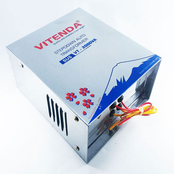 Bộ đổi nguồn 220v sang 110v 2500VA inox Vitenda