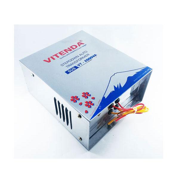 Cục đổi nguồn 2000VA Vitenda inox từ 220V sang 110V(100V)