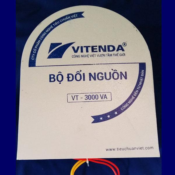 Cục đổi nguồn 3000VA từ 220V sang 110V (100V) móng ngựa Vitenda