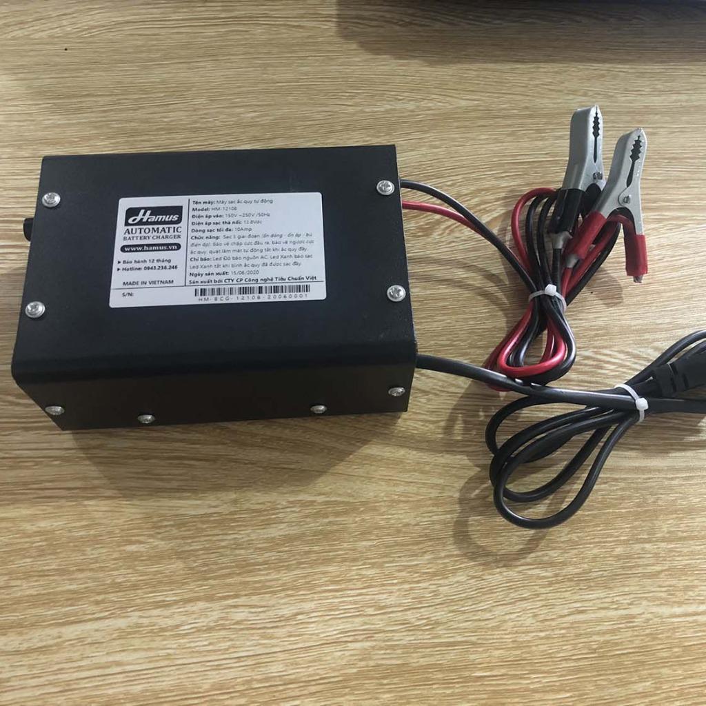Máy sạc ắc quy tự động 12V-25A Hamus chất lượng cao