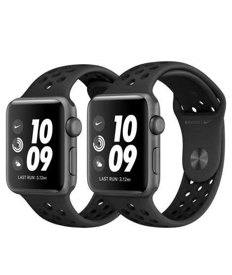 Apple Watch Nike Series 3 Space Gray Aluminum Case with Anthracite/Black Nike Sport Band (GPS) Model 2019