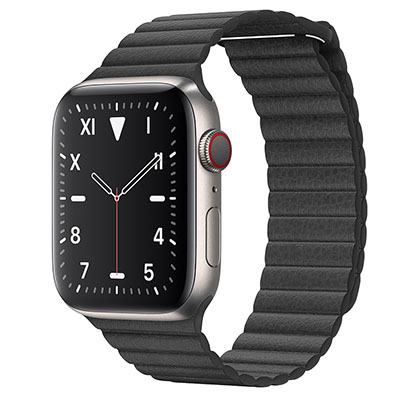 Apple Watch Edition Series 5 44mm Titanium Case with Leather Loop (GPS+CELLULAR)