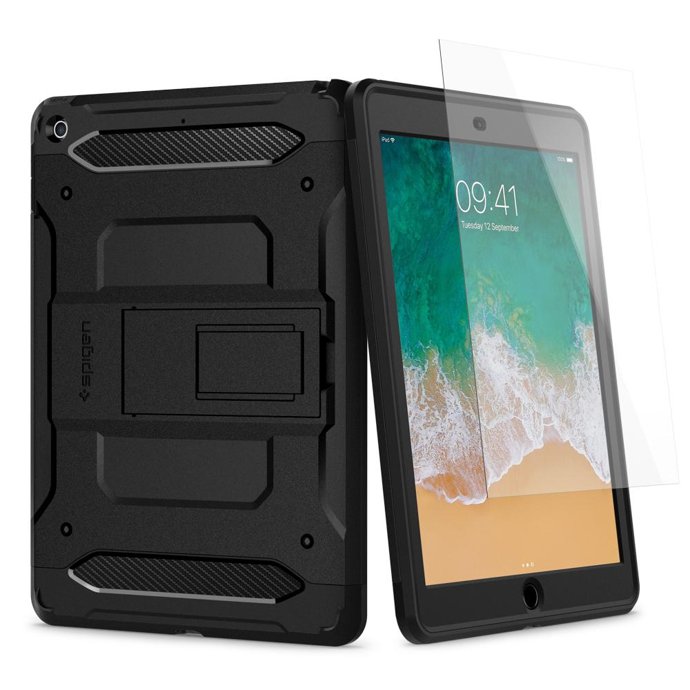 Ốp lưng SPIGEN iPad 9.7 (2018/2017) Case Tough Armor TECH Black