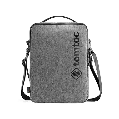 TÚI ĐEO CHÉO TOMTOC (USA) URBAN SHOULDER BAGS FOR ULTRABOOK 13″ GRAY