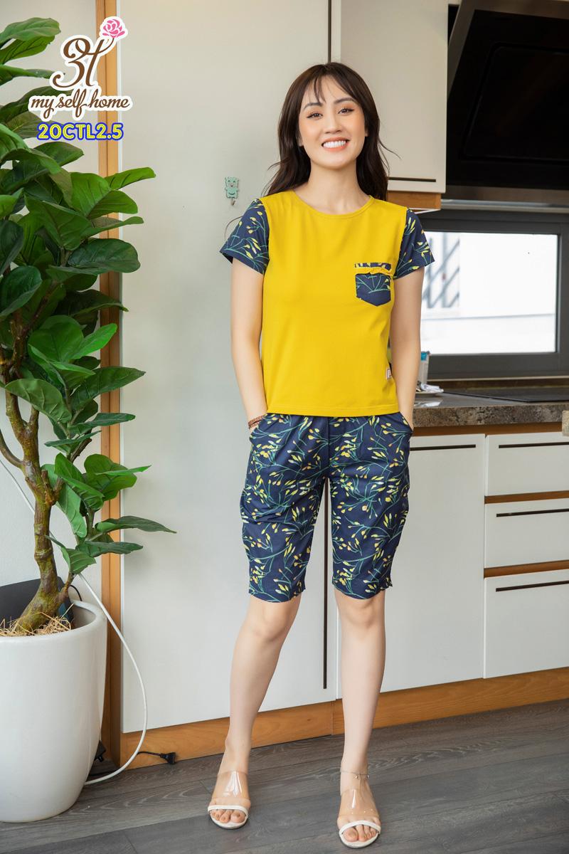 Áo CT quần thô lửng vàng dưa 20CTL2.5