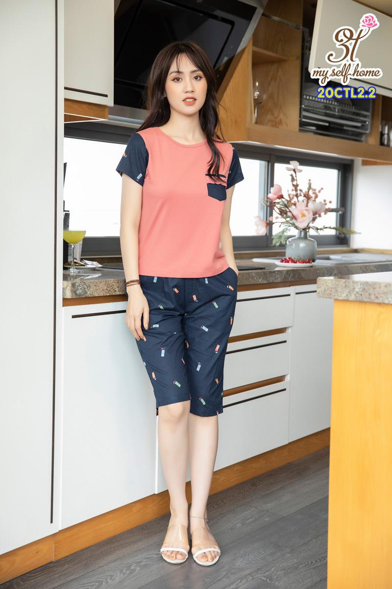 Áo CT quần thô lửng cam đậm 20CTL2.2