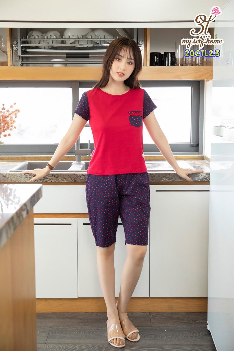 Áo CT quần thô lửng đỏ 20CTL2.3