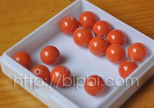 ST 29 - Ngọc màu cam đỏ trơn