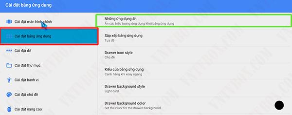 Ẩn giấu ứng dụng hoặc hình ảnh trên androi box tv cũng như smartphone