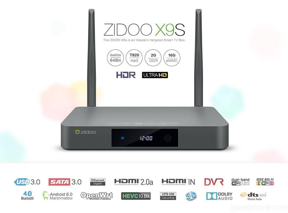 Bung main xem chi tiết cấu hình bên trong Zidoo X9S.