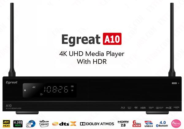 Android tv box Egreat A10 chơi full Hi-End 4K Bluray trên cả tuyệt vời