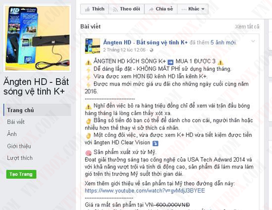 Anten truyền hình bắt sóng K+ thực hư và có nên mua?