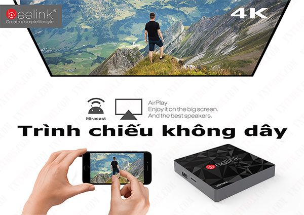 Beelink GT1 Ultimate chip 8 nhân AMlogic S912 TV BOX Ram 3GB rom 32 GB
