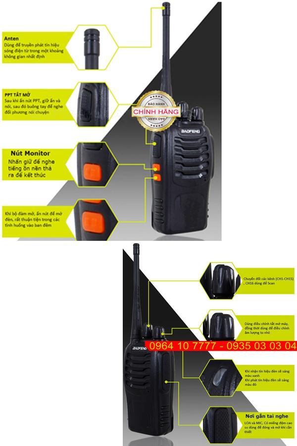 Bộ đàm thoại chuyên dụng 2 chiều Baofeng chống nhiễu - khoảng cách xa