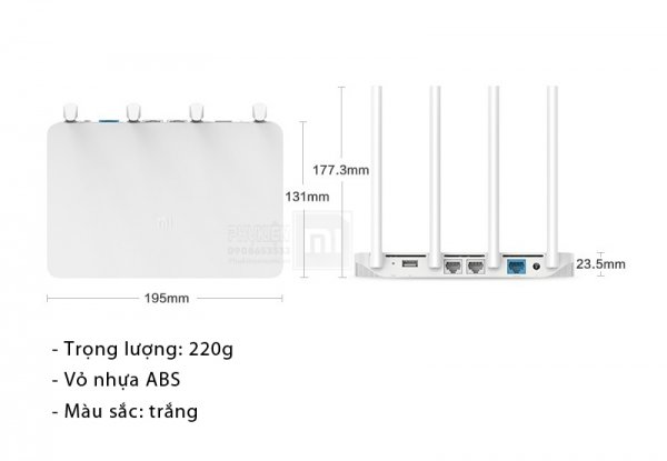 Bộ phát WIFI XIAOMI AC1200 4 ANTEN phát sóng cực mạnh