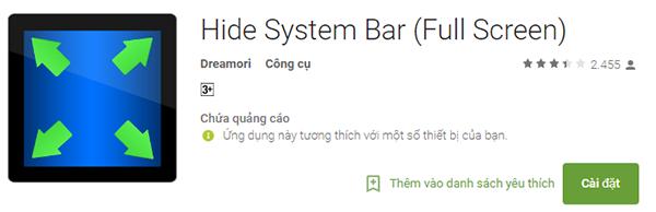 Cách ẩn hoặc vô hiệu hóa thanh trạng thái status bar để full màn hình