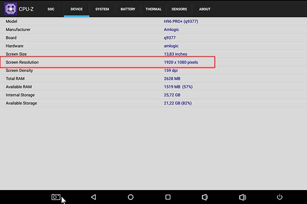 Cách kiểm tra và điều chỉnh độ phân giải tối đa của android tv box