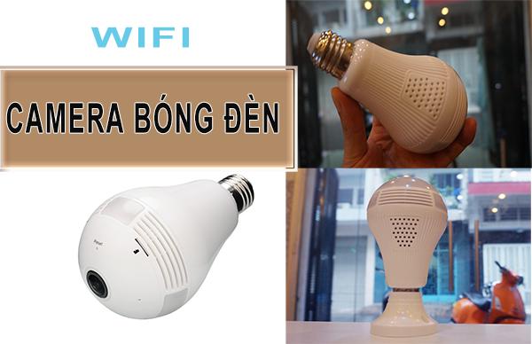 Camera Wifi hình bóng đèn ngụy trang cực tốt với góc quay 360 độ HD