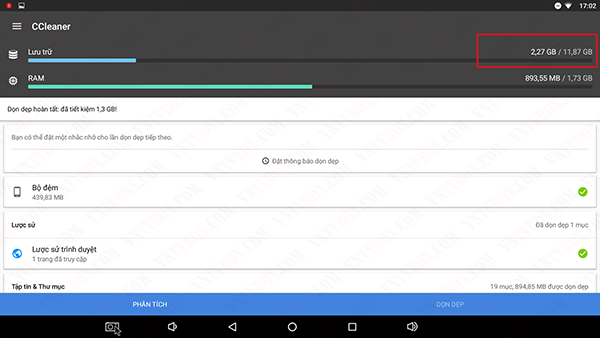 CCleaner dành cho Android Box tối ưu dọn dẹp hệ thống hiệu quả
