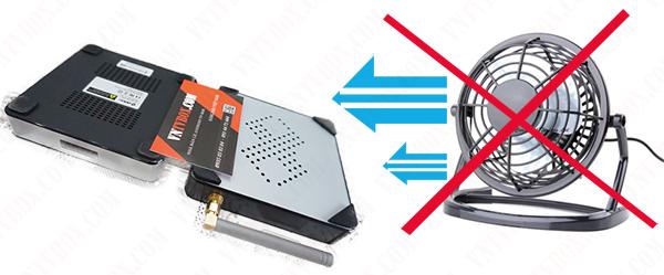chế quạt tản nhiệt cho Android TV Box đơn giản