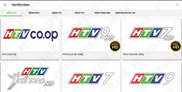 Chia sẻ ứng dụng xem truyền hình miễn phí đầy đủ các kênh HD