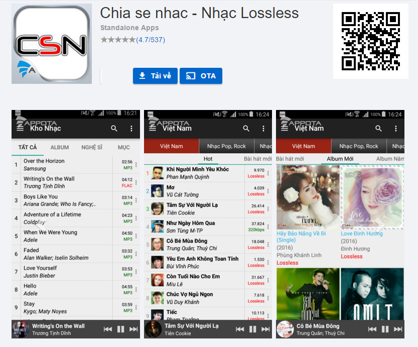 Ứng dụng nghe nhạc chất lượng cao trên Android TV Box