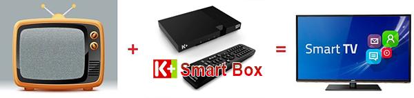 Đầu thu smart tv box của truyền hình bản quyền K+ đầy đủ kênh thể thao