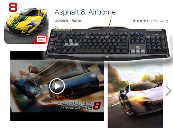 Dùng bàn phím keyboard kết nối được với android tv box để chơi game