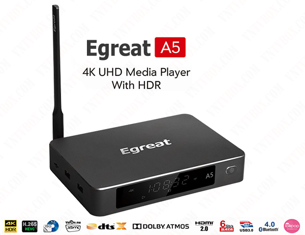Egreat A5 android tv box chuyên 4K Ultra HD Blu-ray CPU Hi3798C V200
