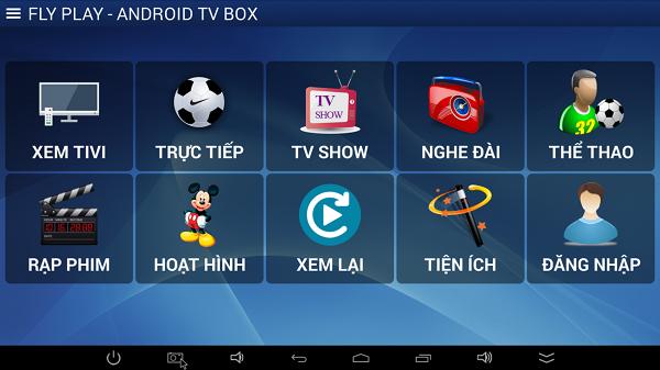 Cập nhật ứng dụng Fly TV Box hướng dẫn khắc phục lỗi không vào được