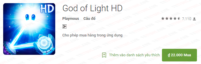 Game cho Android TV Box: God of Light HD