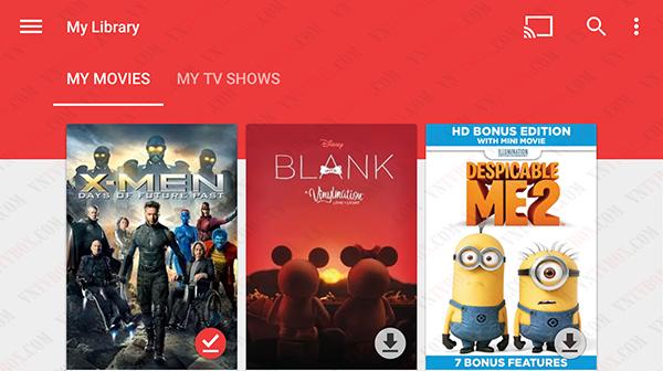Google cung cấp dịch vụ phim Google Play Movies xem phim bản quyền