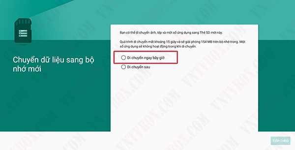 Hướng dẫn dùng thẻ nhớ mở rộng bộ nhớ trong cho android tv box
